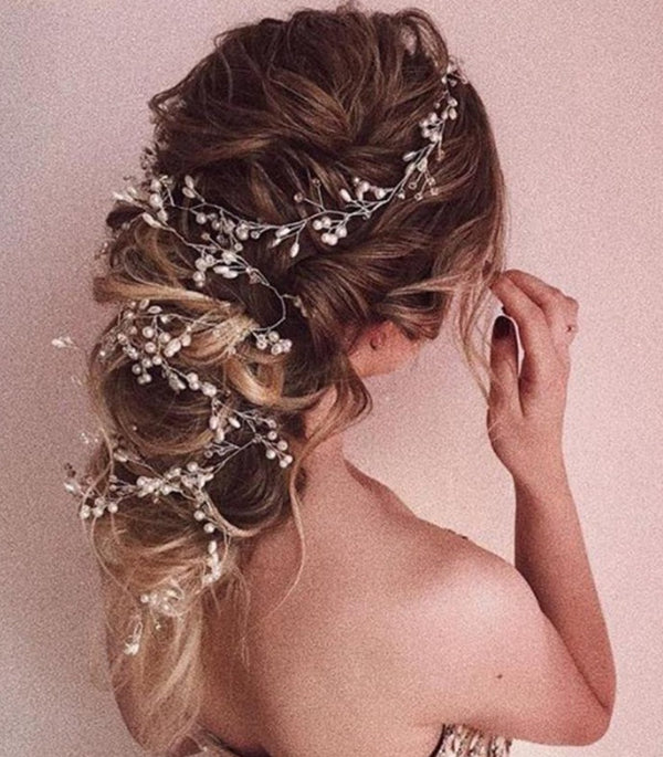 Pearl Crystal Bridal Headpiece - ChicShines
