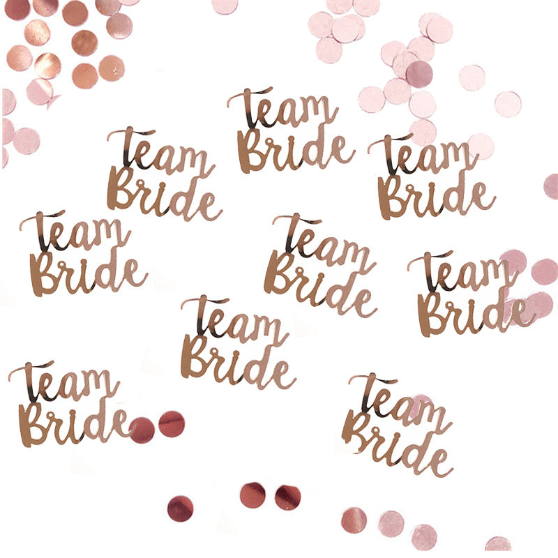 Team Bride Confetti -  Hen Party Decoration - Bridal Shower/ Bachelor party - ChicShines
