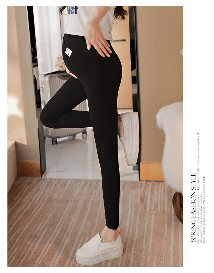 Across V Low Waist Belly Maternity Legging