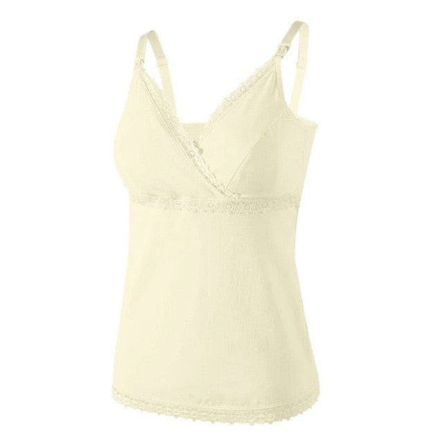 Lace Breastfeeding Tank Top