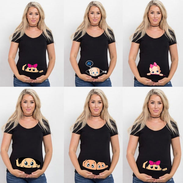 Funny Cartoon Maternity T-Shirt