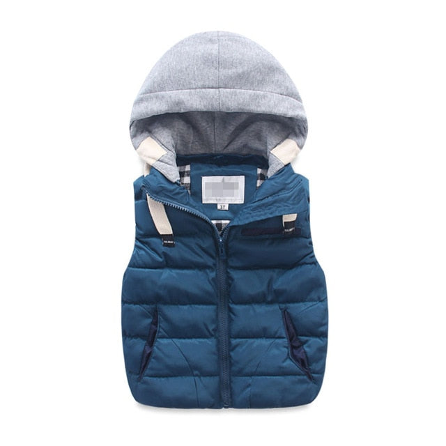 Puffy Hooded Vest - ChicShines