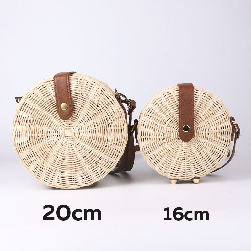 Circular Rattan Lady Bag - ChicShines
