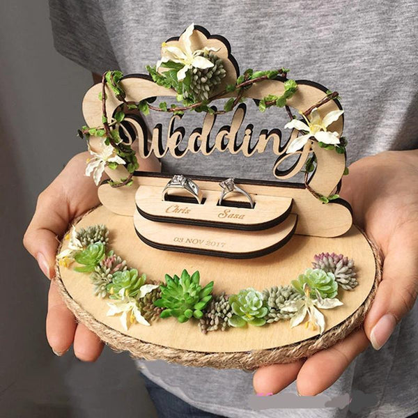 Personalized Engagement - Wedding Ring Holder - ChicShines