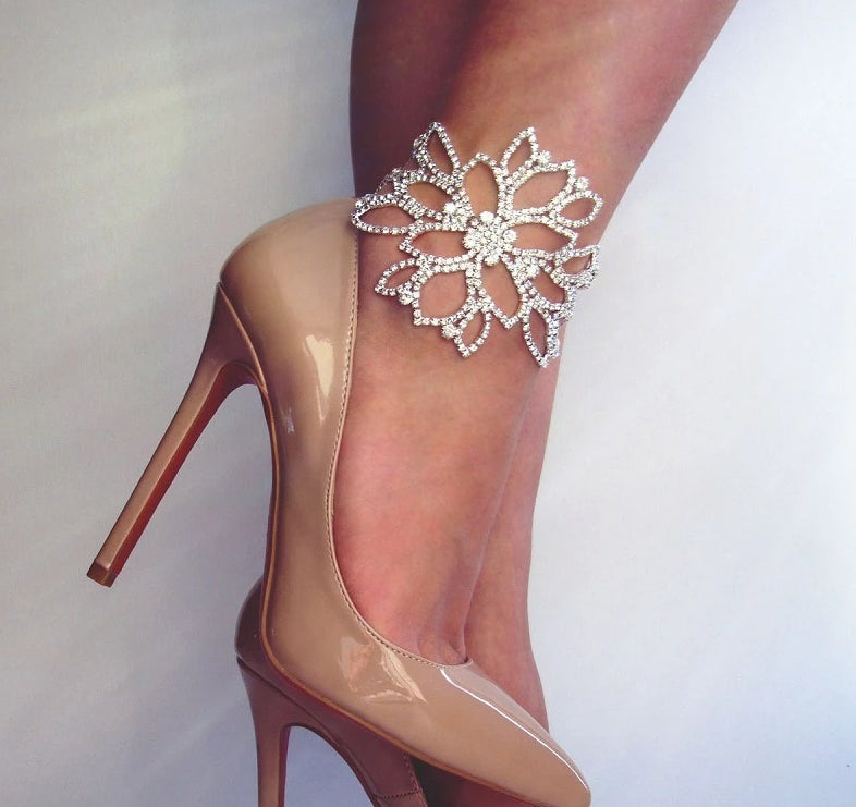 Floral Crystal Ankle Bracelets - ChicShines