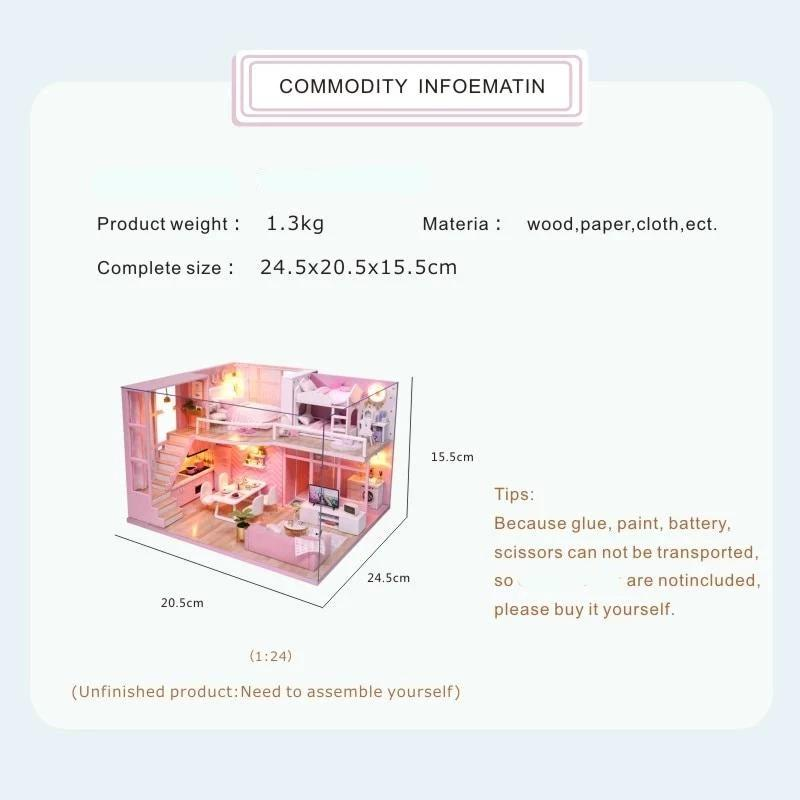 DIY Doll House -  Furniture Kit - ChicShines