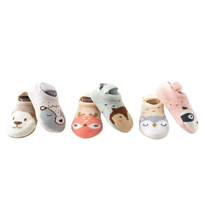 Cartoon Terry Cotton Non-slip Socks - ChicShines