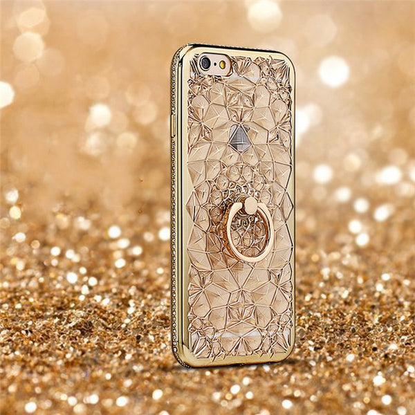 Luxury Rhinestone Flowers Case - ChicShines