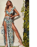 Leaf Print Beach wear - ChicShines
