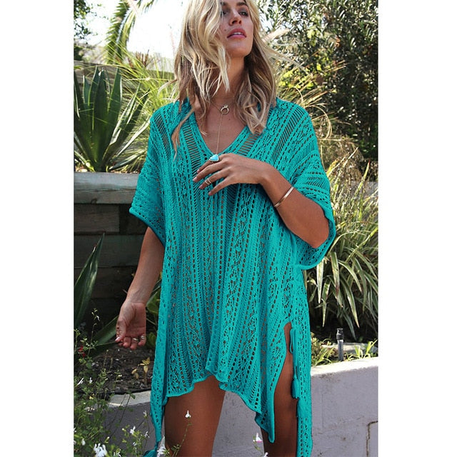 Crochet Beach Cover Up - ChicShines