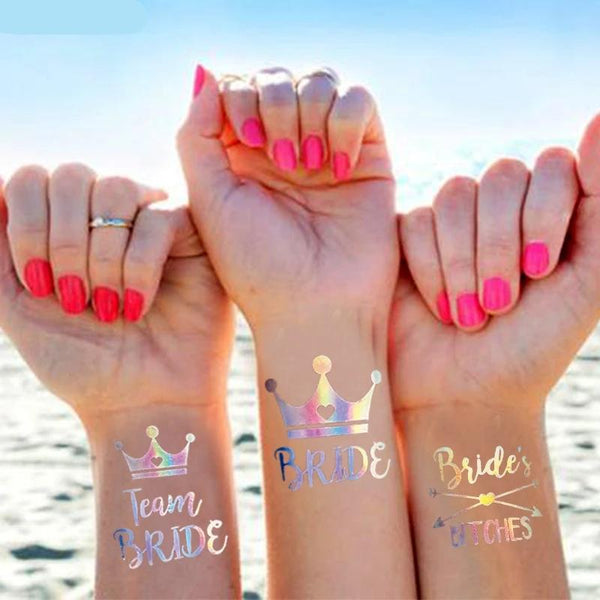 Wedding Decoration Bride to be Tattoos 10 ct - ChicShines