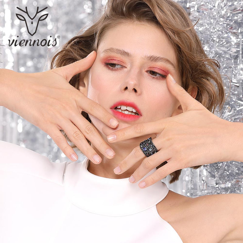 Viennois Paved Cocktail Ring - ChicShines