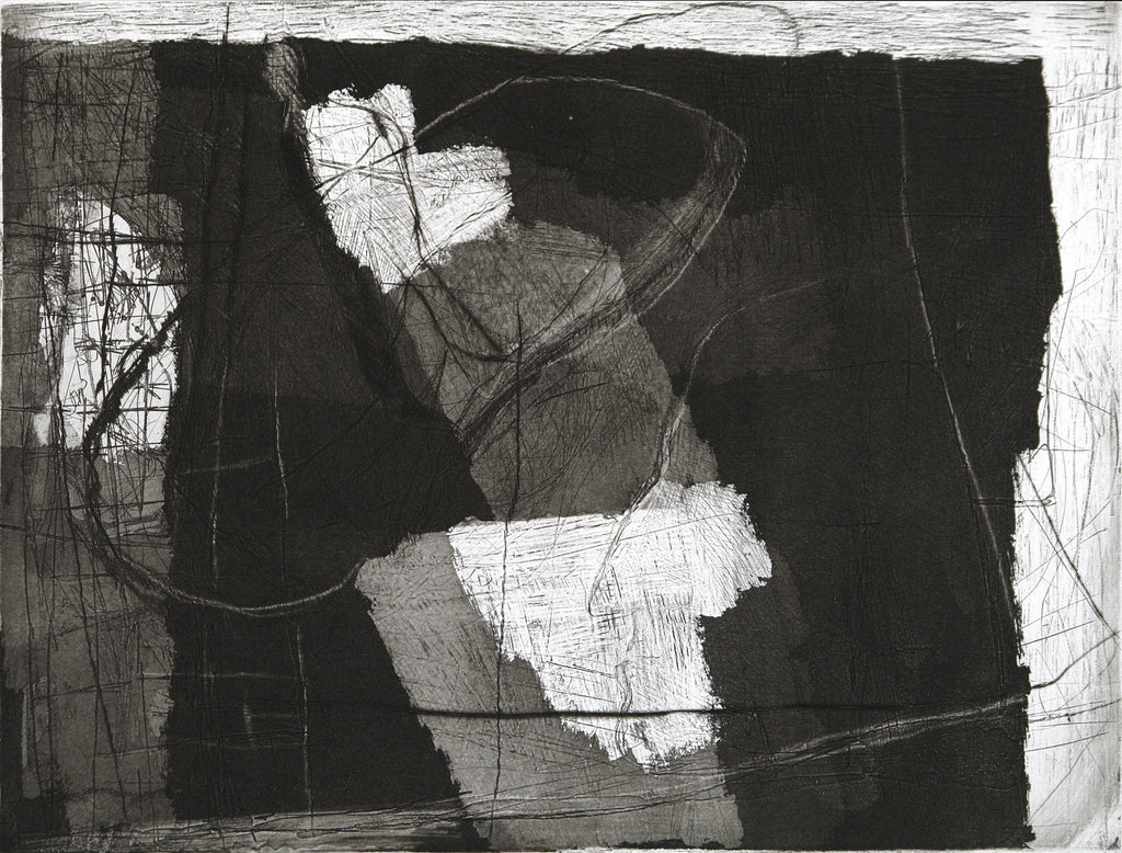 "Art from the GDR. ""Ossietzky gewidmet"", 1988. Etching by Joachim BÖTTCHER"