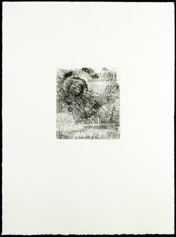 "Art in the GDR/Post-Wendezeit. ""Verdrehung"", 1991. Etching and aquatint by Carlfriedrich CLAUS"