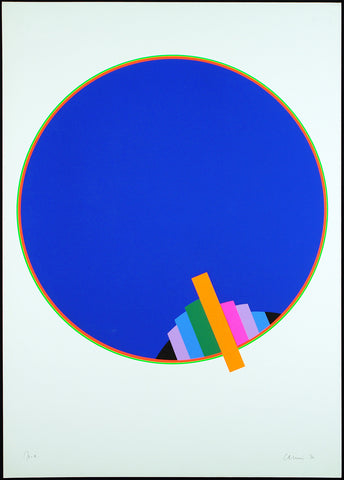 Op Art. Untitled, 1970. Serigraph by Eugenio CARMI