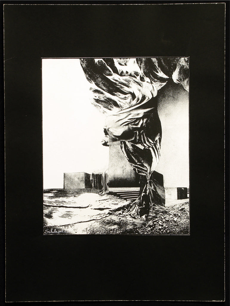 Art from the GDR. Untitled, 1984. Photomontage-silkscreen by Christine SCHLEGEL