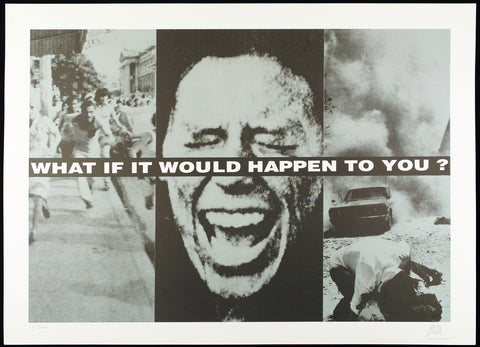"""What if it would happen to you?"", 1994. Offset by Daniel DEWAELE"