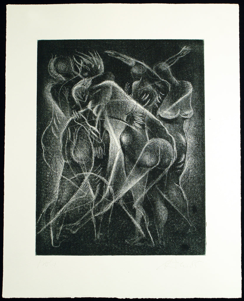 Art from the GDR. Untitled, 1985. Aquatint by Andreas DRESS