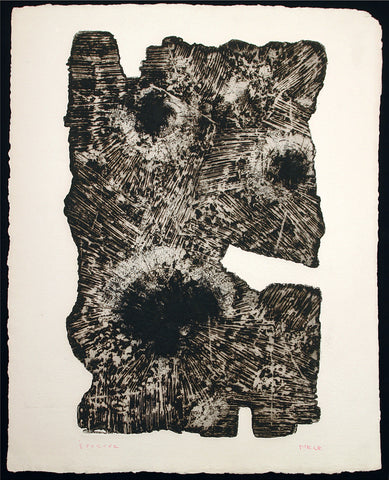Informel. Untitled, around 1960. Aquatint and embossing print by E.R. NELE