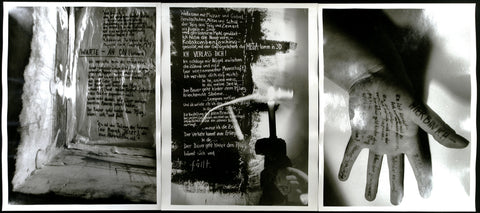 "Photography in the GDR/Conceptual Art. ""Warte - An On (Kawara)"", 1986/1987. Photo-triptych by Else GABRIEL"
