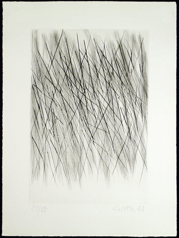 Untitled, 1988. Drypoint by Raimund GIRKE