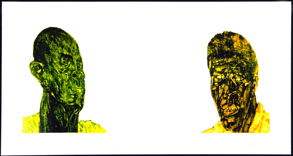 "American Realism. ""Two Black Men"", 1994. Silkscreen by Leon GOLUB buy"