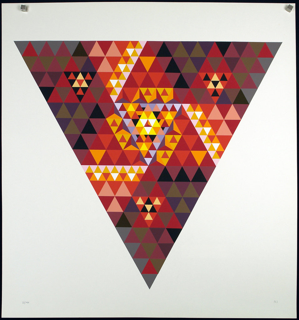 "Russian avant-garde. ""Growing fire"", 1967. Serigraph by Alexander GRIGORJEV"