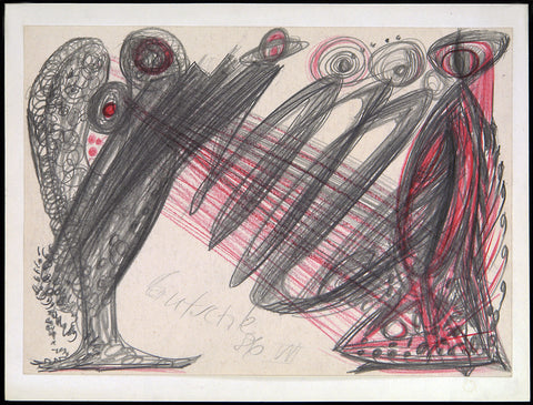 Untitled, 1986. Pencil and crayon drawing by Joachim GUTSCHE