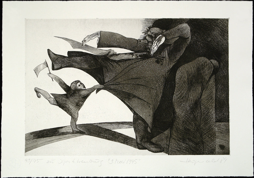 "Art from the GDR. ""9. Mai 1945"", 1984. Aquatint by Heidrun HEGEWALD"