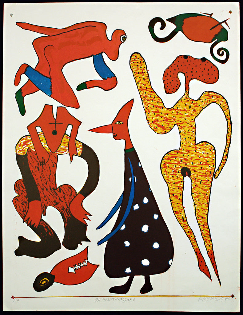 "Art from the GDR. ""Osterspaziergang"", 1984. Serigraph by Frieder HEINZE"