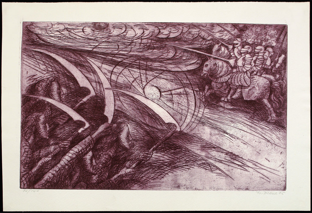 Art from the GDR. Untitled, 1975. Aquatint by Helmut DIEHL