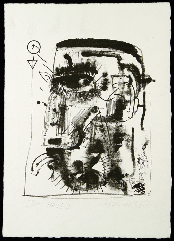 "Art from the GDR. ""Kopf I"", 1984. Lithograph by Wolfgang HENNE"
