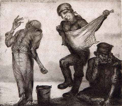 "Art from the GDR. ""Frieden - Ruhe des Tages"", 1987. Etching by Karl-Georg HIRSCH"