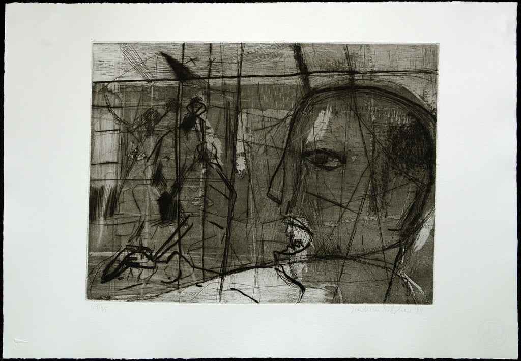 "Art from the GDR. ""9. Mai 1945"", 1984. Aquatint by Joachim BÖTTCHER"