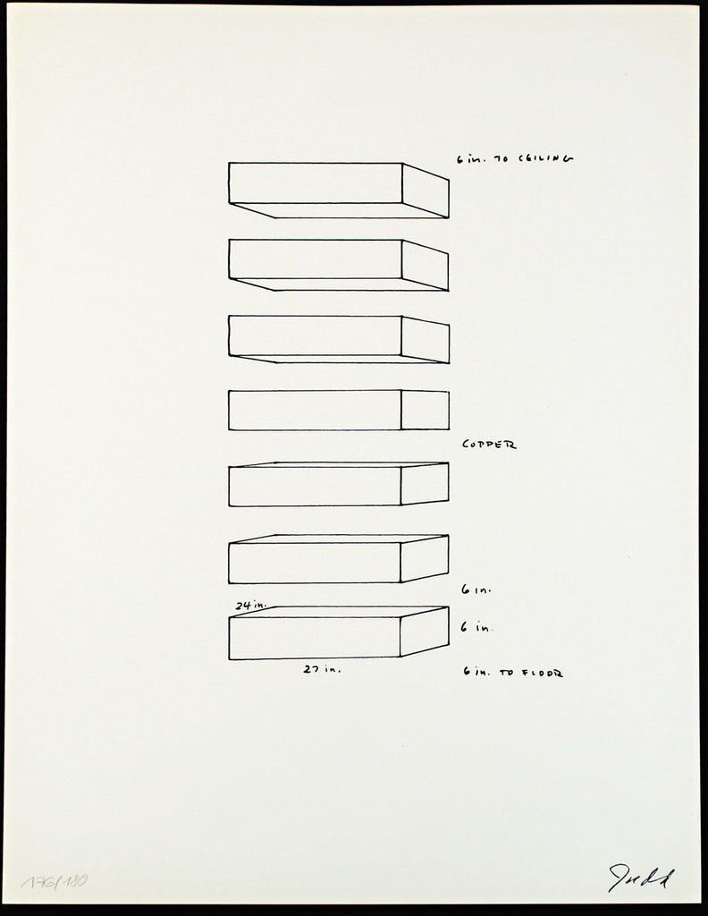 Minimal Art. Untitled, 1969. Serigraph by Donald JUDD