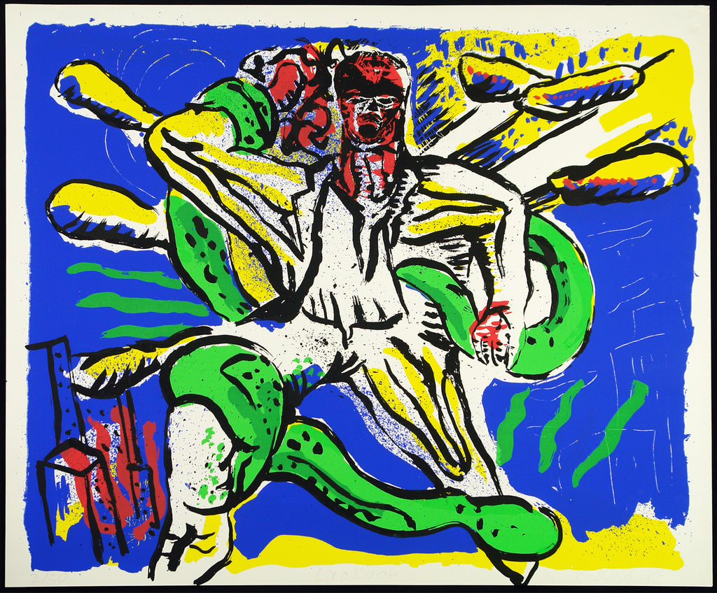 "Art in the GDR. ""Laokoon"", 1989. Serigraph by Klaus KILLISCH kaufen"