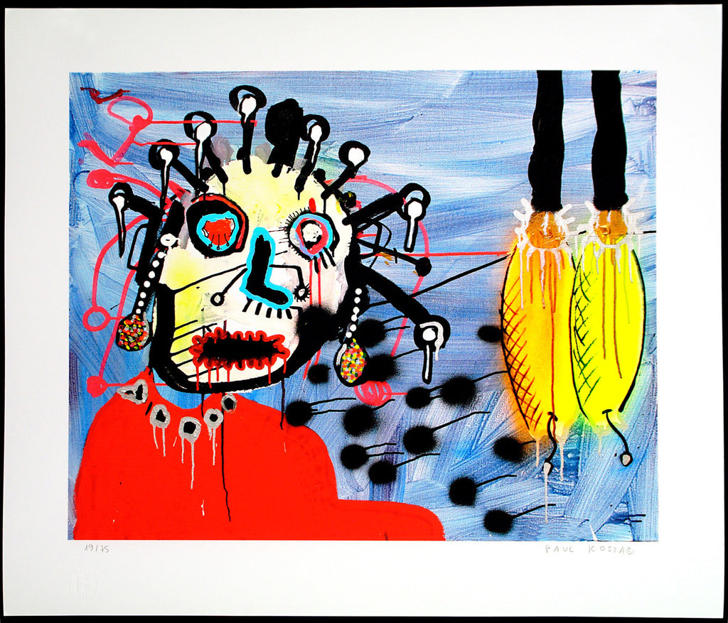 """Grazing"", 2013. Inket print by Paul KOSTABI"