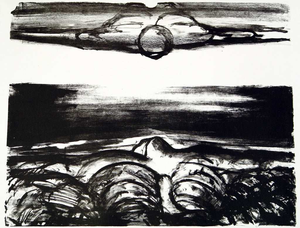 "Art from the GDR. ""Kraniche"", 1985. Lithograph by Gregor-Torsten KOZIK"