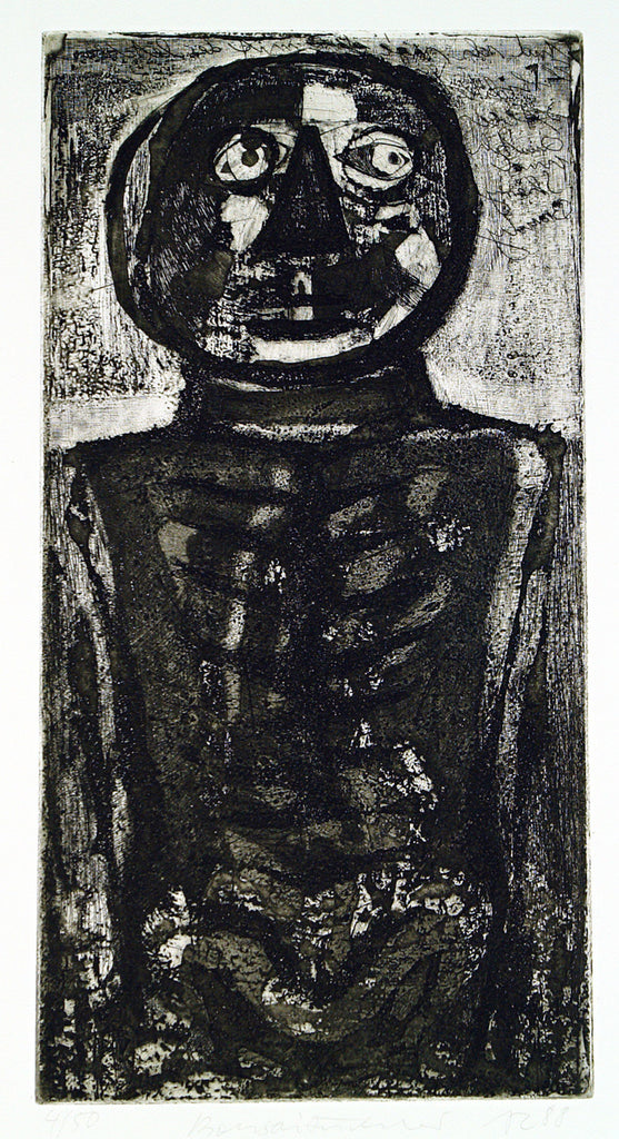 "Art from the GDR. ""Bonsaizüchter"", 1988. Aquatint by Andreas KÜCHLER"