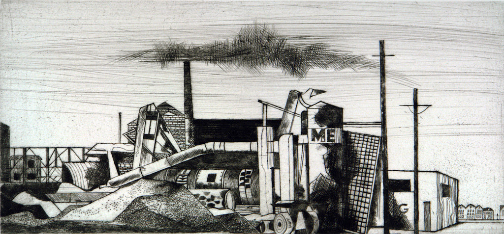 """Industriewerk"", 1960. Etching by Herbert LENTZ"