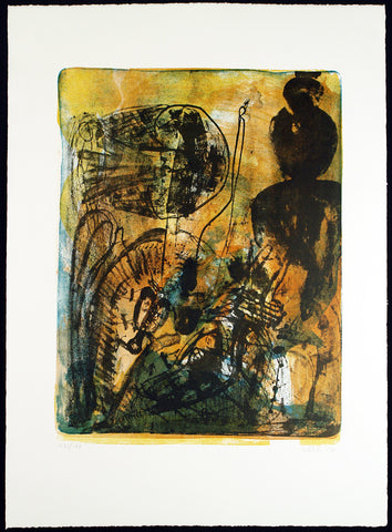 Art from the GDR. Untitled, 1990. Lithograph by Walter LIBUDA