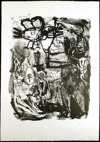 Untitled, 1991. Lithograph by Werner LIEBMANN
