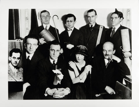 """Pariser DADA-Gruppe"", around 1922/1992. Photograph by MAN RAY"