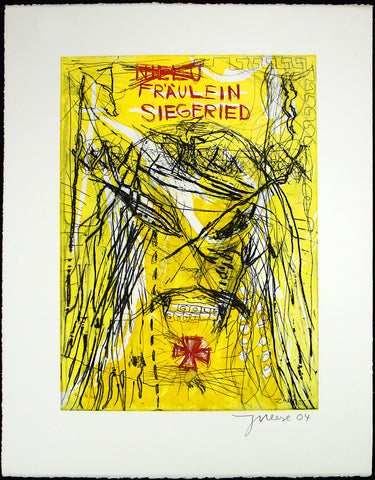 """Fräulein Siegfried"", 2004. Mixed media print by Jonathan MEESE"