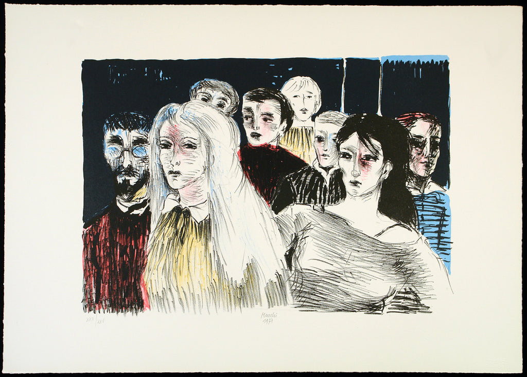 Untitled, 1977. Lithograph by Gabriele MUCCHI