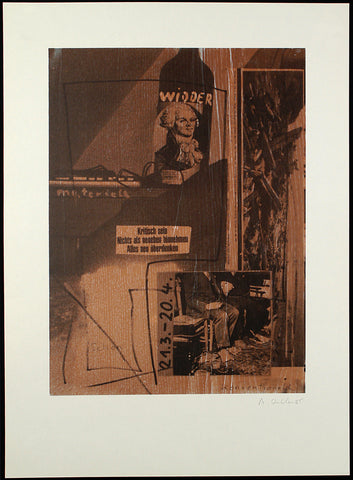 """Widder"", 1985. Mixed media print by Albert OEHLEN"
