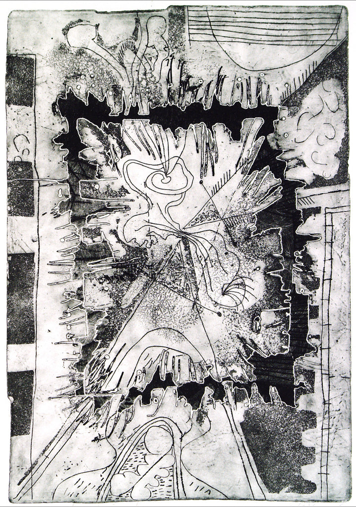 """Magisch Viereck"", 1969. Etching and embossing print by Kees OKX"