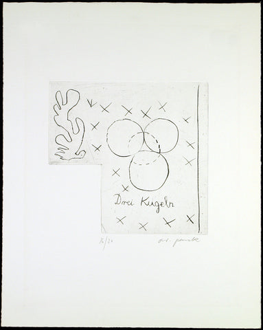 Untitled, 1975/76. Etching by A.R. PENCK
