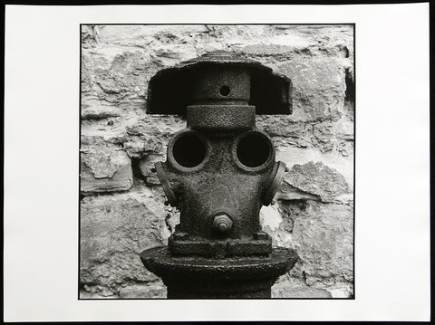 "Photography in the GDR. ""Hydrant bei Leuna-Merseburg"", 1988. Photograph by Peter FRANKE"