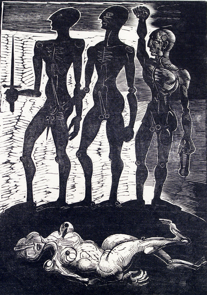 """Violence"", 1989. Woodcut by Peter OPITZ"